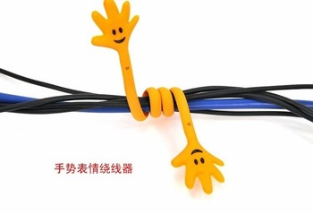 Free Shipping/Cute Finger  Earphone Cable Winder/Smart Wrap Cable Cord Wire Management Organizer/coiling line device/Wholesale