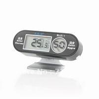 LCD Digital Solar Thermometer Hygrometer hygrothermograph Sensor Black New  900880-K1092028 free shipping