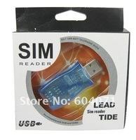 30pcs/lot Sim card copier, Multifunction SIM card Reader (USB),GSM and CDMA compatible,management backup telephone Free Shipping