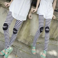 Free Shipping+Wholesale .Fashion zebra stripe Woman/lady Leggings  girls'  pants   clothes 160g  MN606