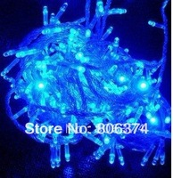 5pcs blue 100 LED String Decoration Light 10M for Christmas Party Wedding 220V With 8 Display Modes, Free Shipping