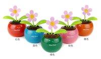Solar Flip Flap Apple Flower Swing Car Decoration Gift ,Solar Flower Solar Plant Swing Solar Toy High quality !