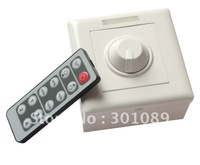 DHL free shipping LED IR Remote dimmer, Input/output: 12-24V