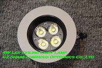 "Professional! High Quality 3.5""/90mm 5500K White Dimmable 4w Led Spot Light,110lm/w,AC85~265V,3 years wty,20pcs/lot,FREE DHL"