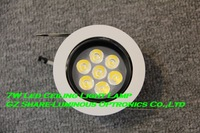 "Professional! High Quality 4""/108mm 5500K White Dimmable 7w Led Spot Light,110lm/w,AC85-265V,3 years wty,20pcs/lot,FREE DHL"