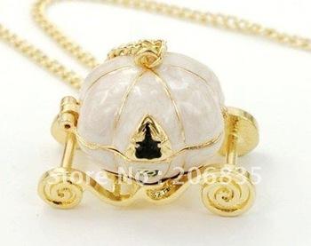 Fashion Jewelery,Pumpkin Car Necklace,Jewelry,Charm Retro Sweater Necklace