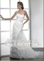 Tulle thin floating yarn dress elegant eyelashes side lace wedding fashion wedding+ +100