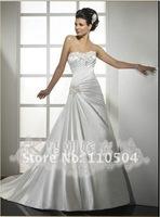 Tailing wedding Slim A-line ivory draping fashion wedding+ +107