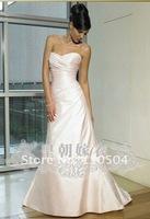 Trailing simple and elegant models grasp luxury trailing wedding pleated wedding court wedding+ +110