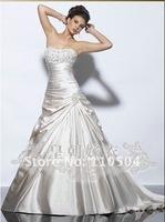 Self - A line draping with satin sleeveless jacket little jacket wedding+ +111
