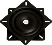 6.5 inch black 360 degree and flat swivel plate ,furniture hardware, barstool turntable
