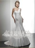 Tailing wedding Slim A-line ivory draping palace wedding+ +114