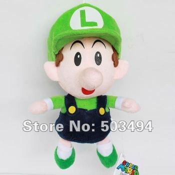 "EMS 20PCS  Baby Mario,waluigi,luigi,wario baby plush Super Mario Bros Baby Mario Plush Toy Soft Doll Stuffed Animal 9"""