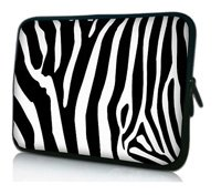 "13"" Zebra Prints Laptop Sleeve Case Bag Pouch For 13.3"" Apple MacBook Pro,Air,HP Folio,Waterproof,Shockproof"