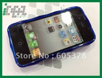 new style 3d tpu case for iphone 4g 4s free shipping to you
