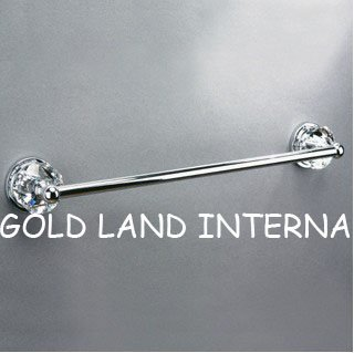 L610mmxH81mm Free shipping  pure brass top quality K9 crystal glass bathroom accessories towel bar