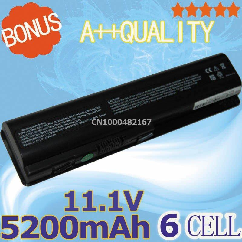 Free shipping 6Cell Laptop Battery for Hp Pavilion DV4 DV5 DV6 DV4T Pavilion DV5T DV5Z Series G50 G60 G70 G71 484171-001(China (Mainland))