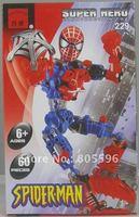 No 229 Spider man Enlighten Building Block Set 3D  Construction Brick Toys Educational Block toy for Children