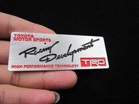 TRD Badge Emblems Aluminum Decals Car logo Auto 3D sticker Toyota Motor 1 PCS
