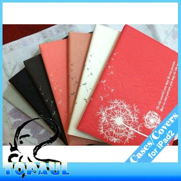 Free shipping,5pcs/lot,2P034 Latest arrival Dandelion Smart cover Magnetic Leather Shell for ipad2 ipad 3 tablet pc laptop(Hong Kong)