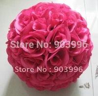 Free shipping-10pcs-20cm plum inner plastic flower ball-kissing wedding decoration ball