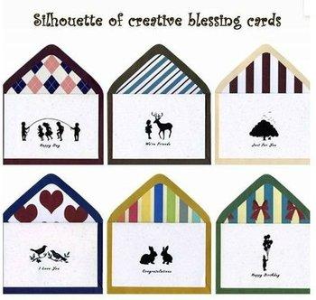 الشحن مجانا/ خمر ابيض اسود cards+ المعايدة مغلفات ورق الكرافت/ بطاقات المعايدة/ بطاقات هدية عيد الأم