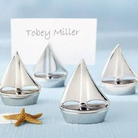 """FREE SHIPPING +""""Shining Sails"""" Silver Place Card Holders Wedding Favors+100pcs/LOT"""