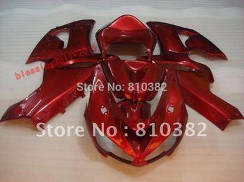 ABS plastic Fairing kit for KAWASAKI Ninja ZX6R 05 06 ZX6R 2005 2006 Injection mold ZX 6R 636 All red Fairings bodywork