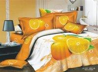Hot Fashion New  Beautiful 100% Cotton 4pc Doona Duvet QUILT Cover Set bedding set Queen/  King size ORANGE