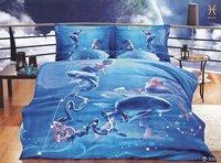 Hot Fashion New  Beautiful 100% Cotton 4pc Doona Duvet QUILT Cover Set bedding set Queen/  King size Pisces