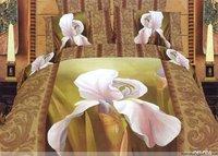 Hot Fashion New  Beautiful 100% Cotton 4pc Doona Duvet QUILT Cover Set bedding set Queen/  King size White Flower