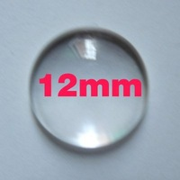 500pcd 12mm clear crystal glass cabochon