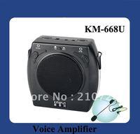 DHL Free Shipping 15W Fashion Waistband Megaphone  With USB Slot  (KM-668U)