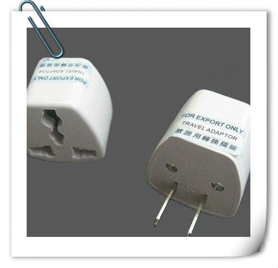 Free Shipping Universal US AC Power Plug Travel Trip Adaptor US-2 Adapter 2 Pin 4 PCS Per Lot(China (Mainland))