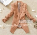 2012 NEW korea style one button 3/4 sleeve Shrink sleeves ladies silm suit,women suit ,women jacket/women fashion coat