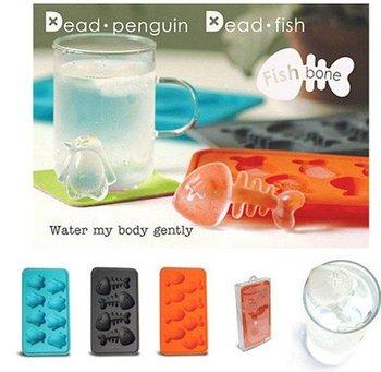 Free shipping!  Ice Tray /Ice mold/ shots Cube Tray mold /fish 2pcs/lot