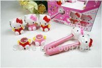 Free Shipping 24pcs/lot Hello Kitty Extensible Ballpoint Pen, Children's Creative Korea Stationary Wholesale