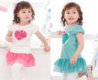Платье для девочек 2012 cute baby girl's sleeveless summer dot dress blue color, children dress