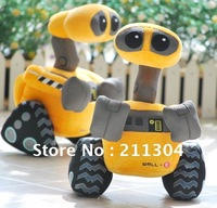 "Free Shipping high quality wholesale top-selling 10"" WALL-E vivid robot Plush Toy WALL.E Wall E walle doll hot toy kids toy 2013"
