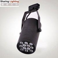 Free shipping 12W led track light warm white/pure white led tracking lighting spotlight 45-90 light angle