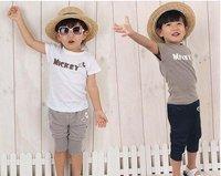 4sets/lot baby Girls / boy's suits spring 2pc/short suit coat +short pants baby clothes set /Kids clothes