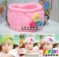 10pcs/lot Mix flower hair accessories, Cute headband baby with three-flower Wig Designs TOP BABY elastic headband/cap