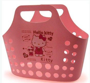High quality hello kitty shopping market basket,hello kitty vegetables/fruit shopping bag,hello kitty storage box,wholesale