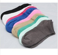 Candy solid color cotton Women's boat socks, short socks