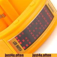 Newest Fashion RED LED Quartz Watches Orange Yellow Rubber Band Unisex Style NEW IW2434
