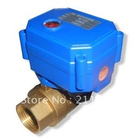 Electric Water Valve DC12V or 24V BSP 3/4'' full port 3 wires hot sale item on America market 5pcs/lot free shipping