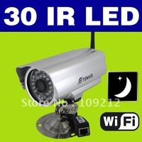 EMS&DHL SHipping 1pcs/lot 30 IR LED Waterproof Wireless IP Camera Night Vision WIFI Cam IPCAM22