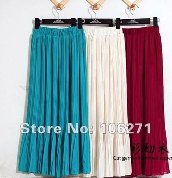 DHL/EMS Free shipping,fashion designer ladies skirts,korean long dress,ladies lovely mesh skirt,pleated chiffon short skirts.