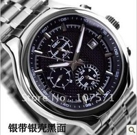 Free Shipping High Quality Multifunctional Business Men's Six-hands Mechenical Watch