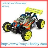 nitro car AM 27Mhz system 94285 RTR :1/16th 4WD Nitro Off-Road Buggy _METEOR